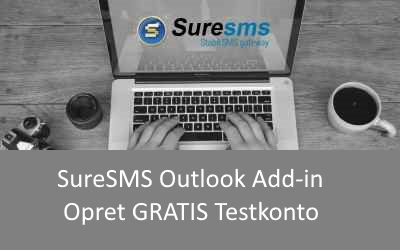 sms Outlook Add-in opret konto