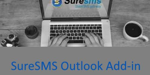 SureSMS sms Outlook Add-in landingpage